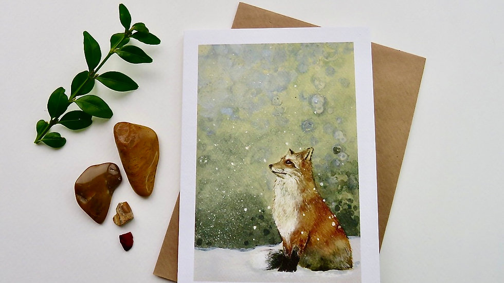 Fox and first snow