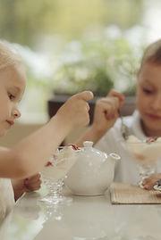 boy and girl a dessert in cafe Love.jpg