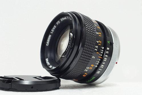 大光圈標頭王 Canon FD S.S.C 50mm f1.4, FD Mount (極新淨)