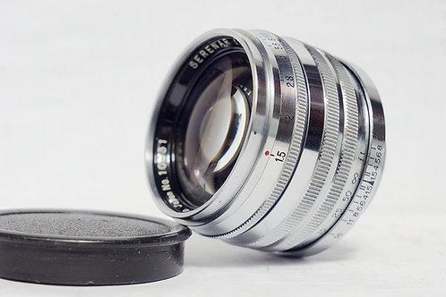 極罕見早期全銅重版 Canon Serenar 50mm f1.5 大光圈 (極新淨)