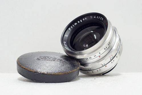 東德小廣角 Meyer Primagon 紅V 35mm f4.5 (非常新淨)
