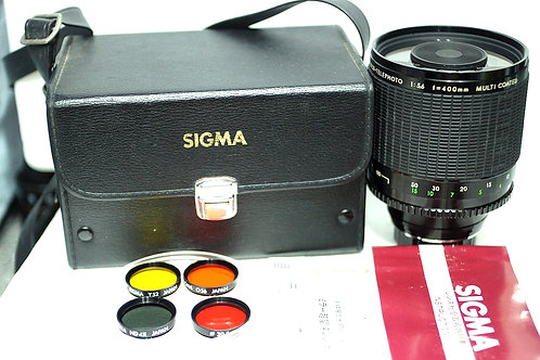 Reflex Sigma Mirror Telephoto Multi Coated 400mm f5.6 (Full Set)
