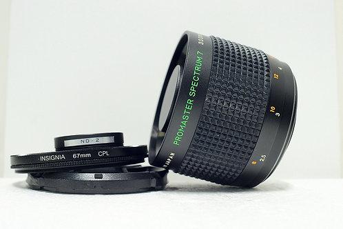 反射鏡 Mirror Reflex Promaster Spectrum MC 300mm f5.6, T2 Mount (90%New)