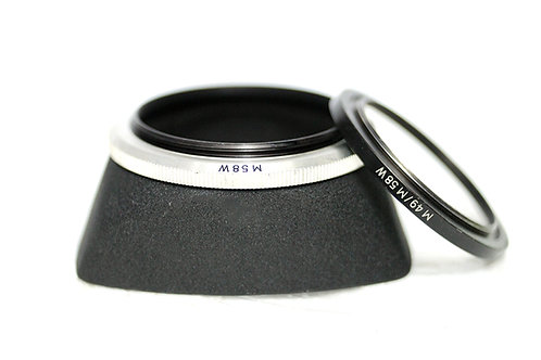 49mm 58mm絕版東德 Meyer / Carl Zeiss Jena Metal 方形Hood