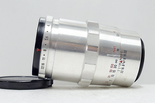 早期白銀 Carl Zeiss Jena 1Q Sonnar 135mm f4 (非常新淨)