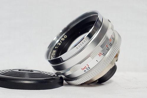 經典西德原福 Voigtlander Septon 50mm f2 (90%New, 鏡片完美)