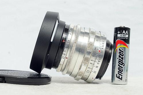 小巧鷹眼 Carl Zeiss Jena 紅T Tessar 50mm f3.5 (14葉, Very New)