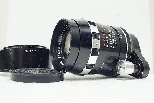 Schneider Tele Xenar 135mm f3.5, West Germany (黃銅重版, 非常新淨)