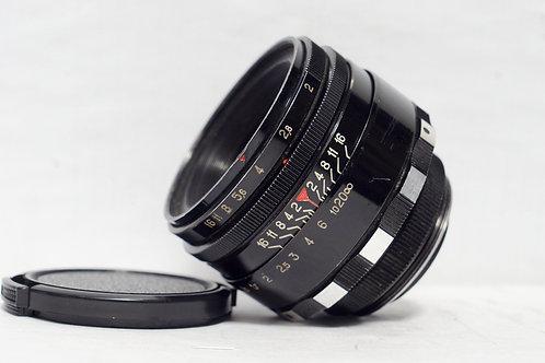 黑漆版 2代八羽怪 Helios 44 2 MC 58mm f2, 1990年USSR (新淨)