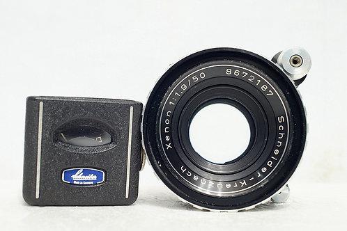 罕見測光錶版本 Schneider 50mm f1.9 Germany (最近對焦0.5m)
