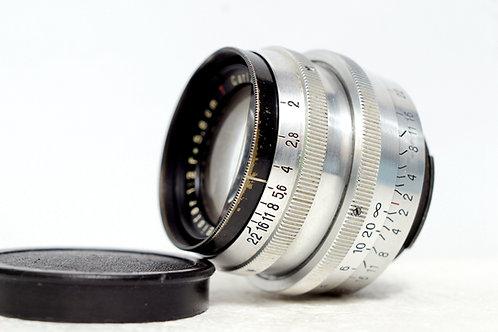 戰前1代小B Carl Zeiss Jena 紅T Biotar 58mm f2, Exakta Mount