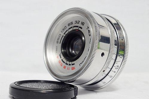 罕有銀版 L39 俄仔 Lomo T-43 40mm f4, Made in USSR (極新淨)