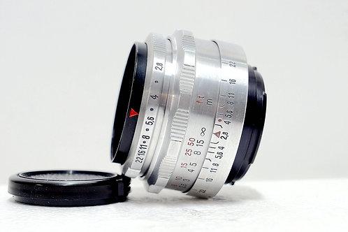 白銀鷹眼 Carl Zeiss Jena 1Q Tessar 50mm f2.8 (Very New)