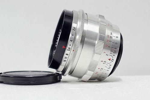 M42東蔡白銀版 Carl Zeiss Jena 1Q Flektogon 35mm f2.8 (極新淨)