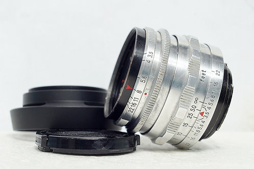 小巧鷹眼 Carl Zeiss Jena 紅T Tessar 50mm f3.5 (罕見14葉)