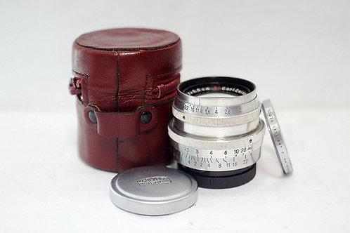 WWII 二戰小B Carl Zeiss Jena T Biotar 58mm f2, 1942年(極新淨)