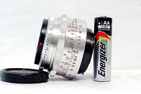 小巧版 白銀鷹眼 Carl Zeiss Jena 1Q Tessar 50mm f2.8 (非常新淨)