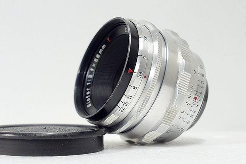 M42 旋散王 Carl Zeiss Jena 紅T Biotar 58mm f2, (12葉, 極新淨)