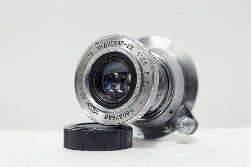 L39 Industar-50 紅N 50mm f3.5, Made in 1950年代 USSR (非常新淨)