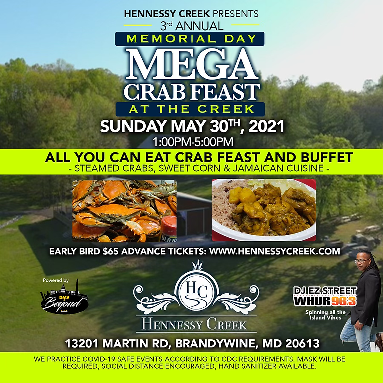 Hennessy Creek Presents: The Annual Mega Crab Feast @ The Creek