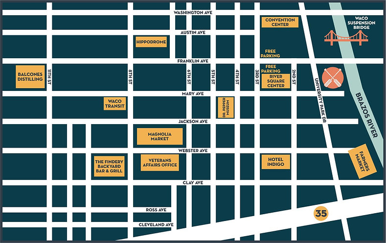 Downtown Waco Map
