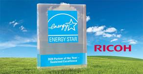 Ricoh recibe el premio ENERGY STAR 2020® por quinto año consecutivo