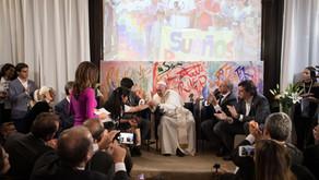 """El papa Francisco: """"Sigan mirando hacia el futuro todos juntos, con los valores de cada cultura, per"""