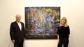 """La artista Liliana Golubinsky inauguró su muestra """"Iluminar los días..."""" en la Galería Kre"""