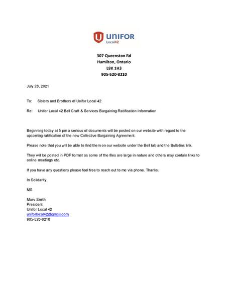 Bell Bargaining Info Updates