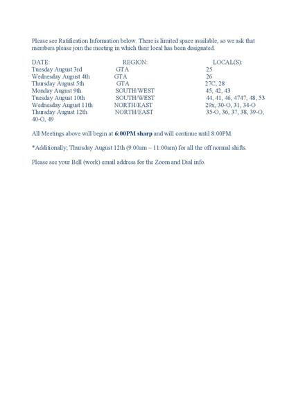 Ratification Info
