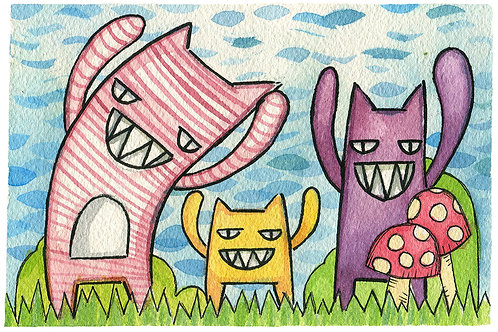 Party Monsters 5x7 Print