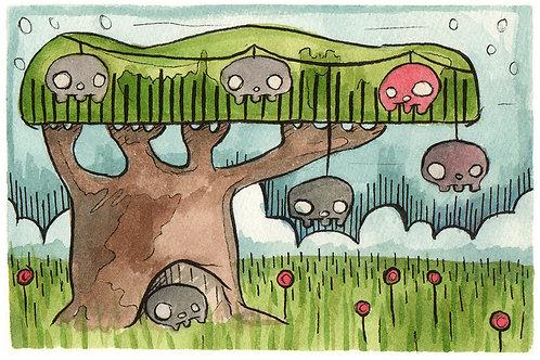 Skull Tree #12 5x7 Print