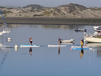 Paddlers on the water