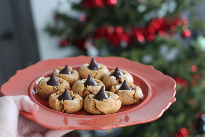 Healthy Peanut Butter Blossom Cookies