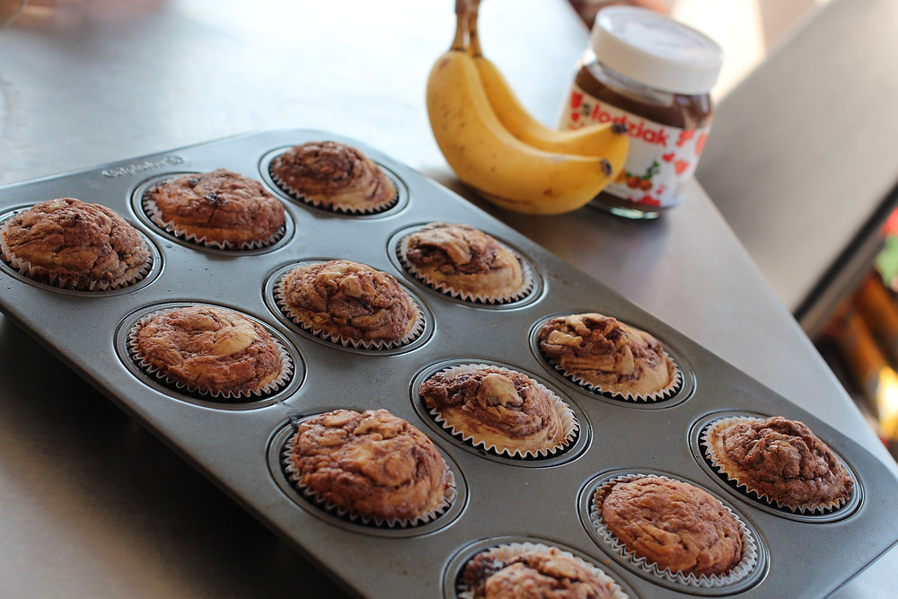 Banana Nutella Muffins © Cathy Kelley