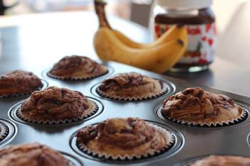 Banana & Nutella Swirl Muffins