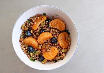 Tangerine, Blueberry & Couscous Salad