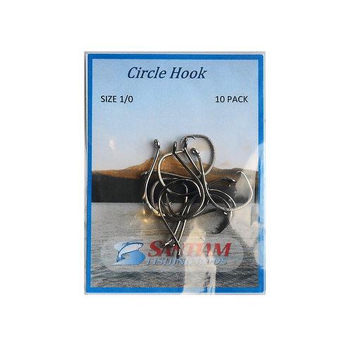 Circle Hooks 7385 Bent Eye Size1/0, 2/0 10 Pack