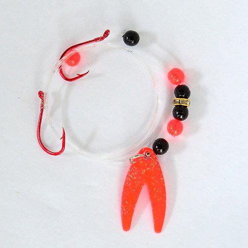 Orange Glitter Spinner