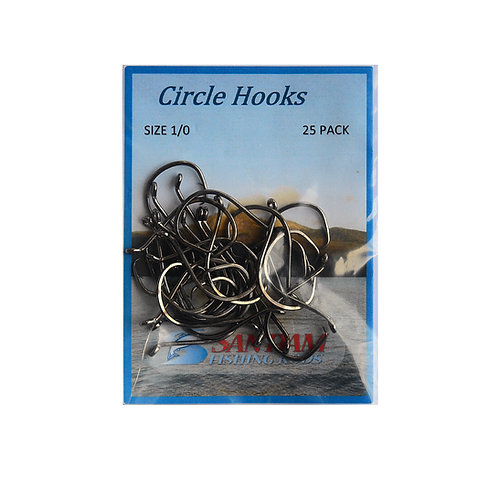 Circle Hooks 7385 Bent Eye Size1/0, 2/0 25 Pack
