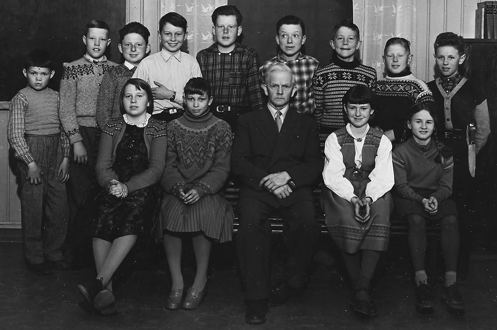 Skolebilde fra Digerudskolen ca 1956