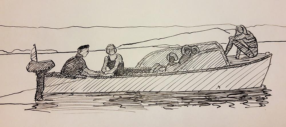 Båttur med Margit og Arne Eriksen 1965
