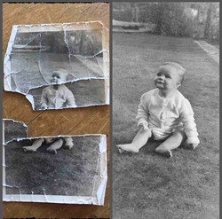Photo scan restored photo