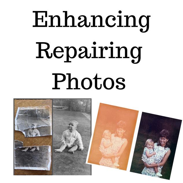 Enhance repair damaged photos