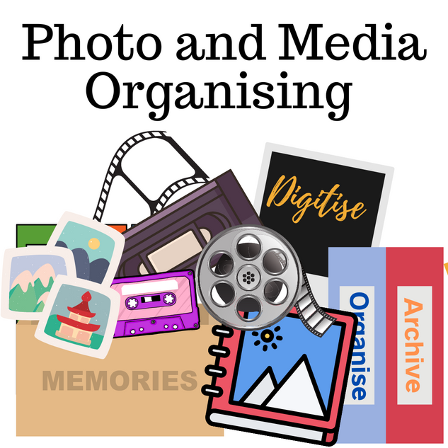 organising photos media archiving