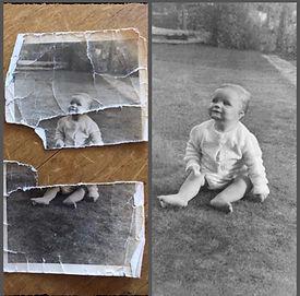 restored very broken photograph photo damaged