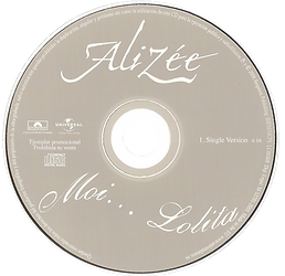 Alizee - Moi... Lolita (CD Promo Monotit