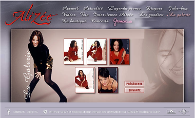 Alizée - Site Officiel 2003
