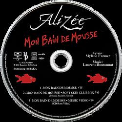 Alizee - Mon bain de mousse CD PROMO .pn