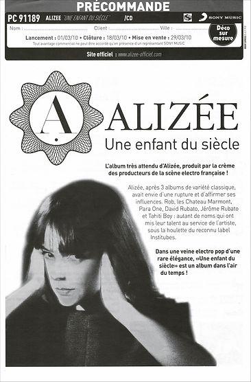 Alizee - Une enfant du siècle - BDP FR p